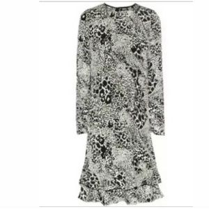 DKNY Animal Print Silk Dress